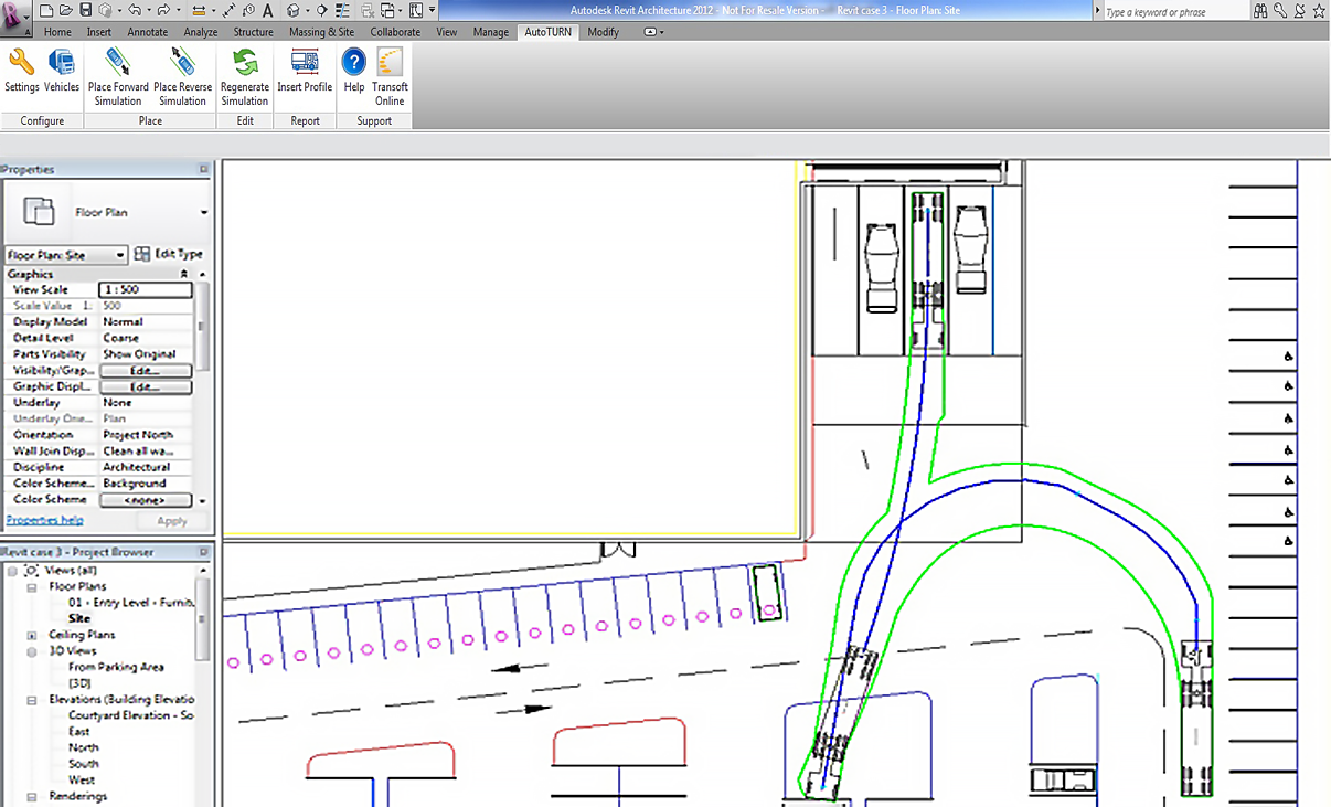 AutoTURN Revit | Vehicle Swept Path Analysis Software for Autodesk