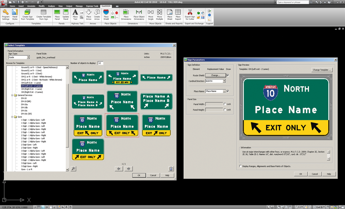 GuideSIGN | Road and Highway Sign Design Software | Transoft Solutions