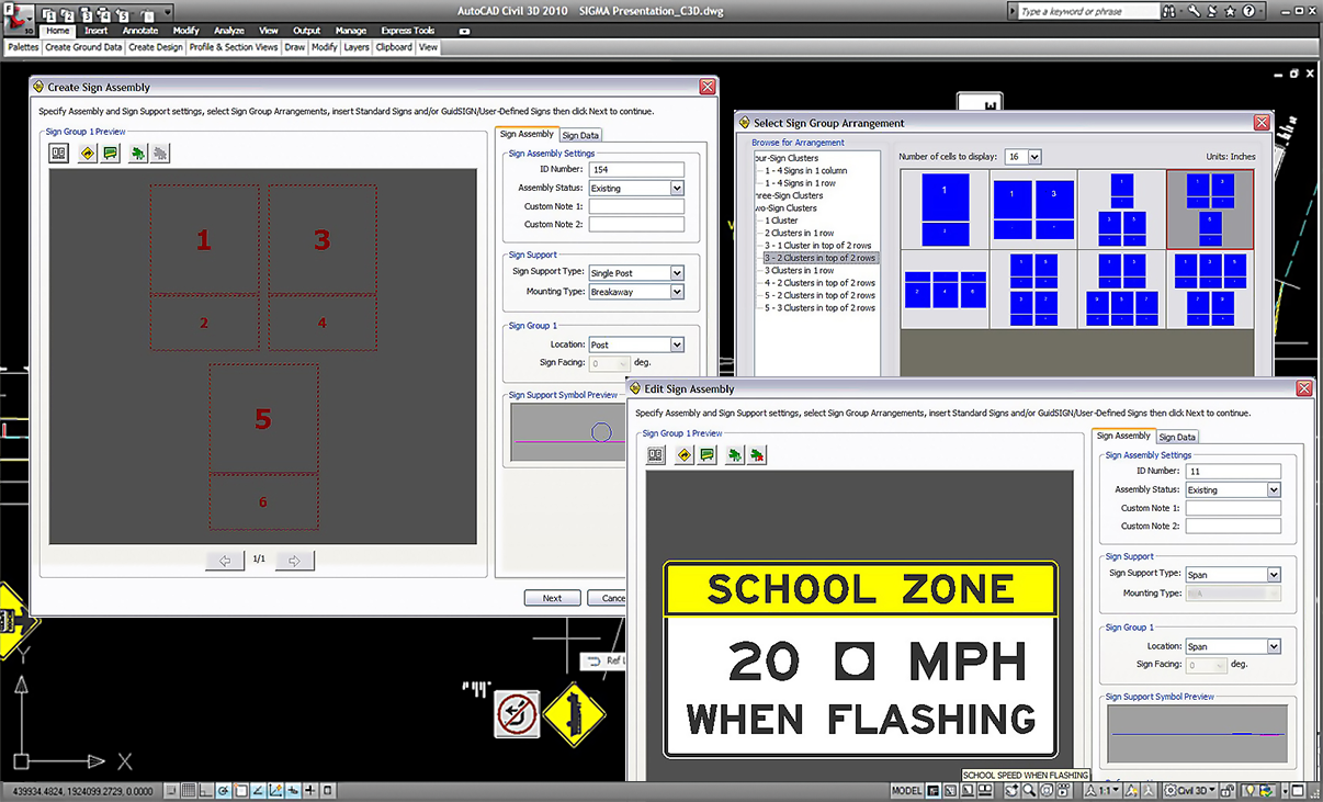 SIGMA | traffic signing plan software | Transoft Solutions